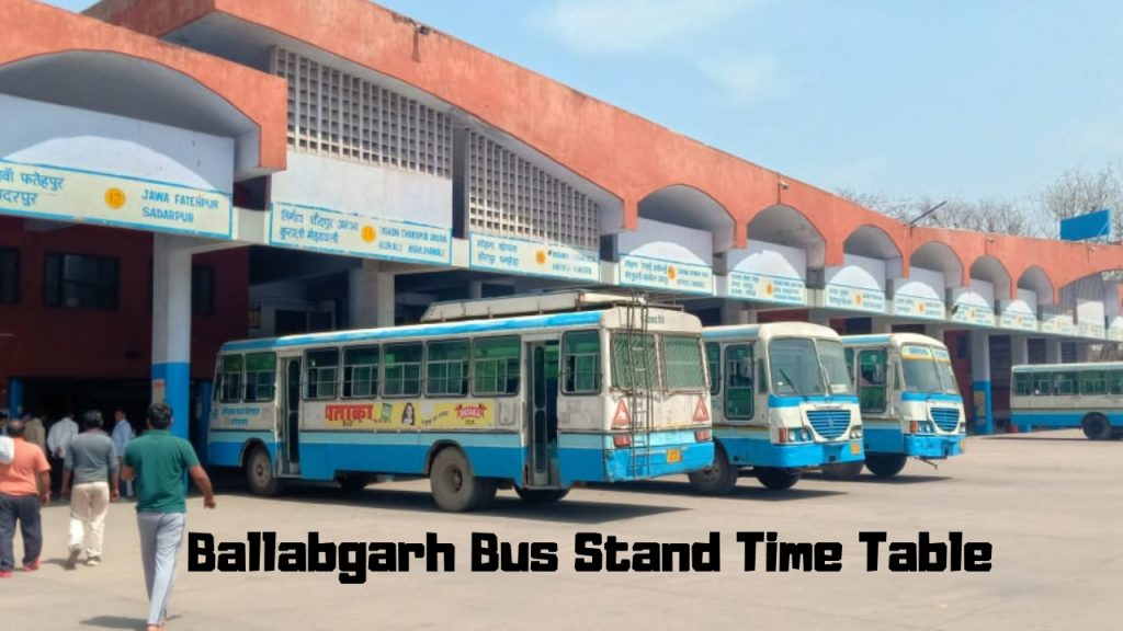 Ballabgarh-bus-stand-time-table