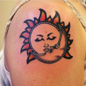 half-son-half-moon-tatoo