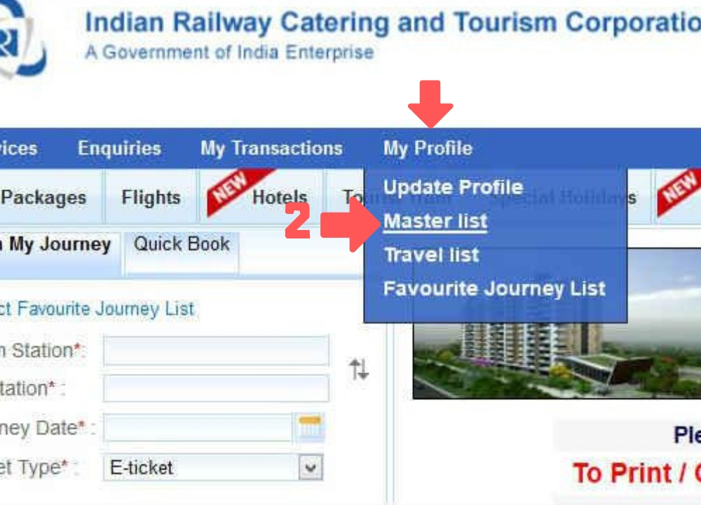 How to Book Tatkal Ticket Online