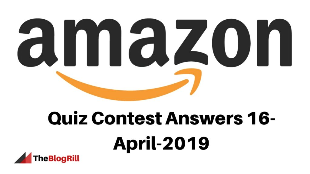 Quiz Contest Answers 17-April-2019