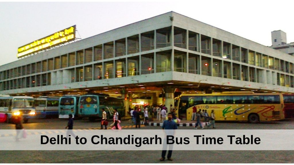 delhi-to-chandigarh-bus-time-table