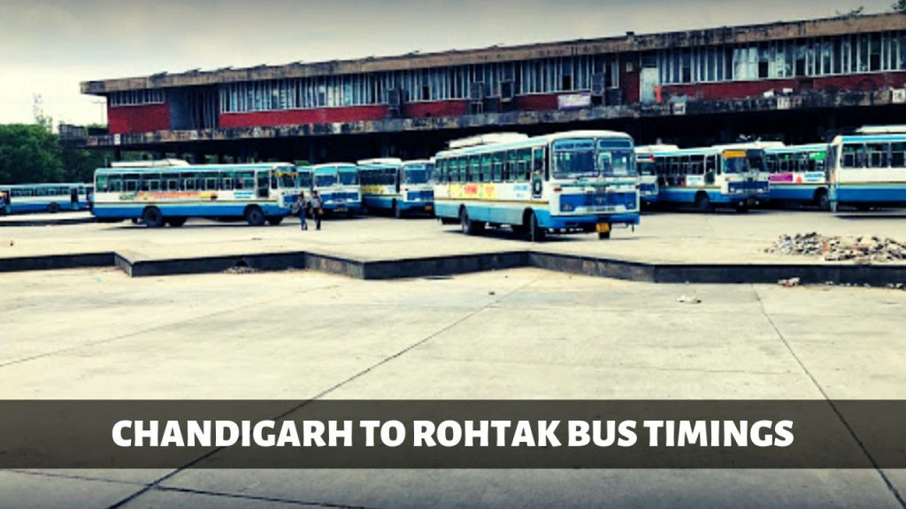 CHANDIGARH TO ROHTAK BUS TIMINGS