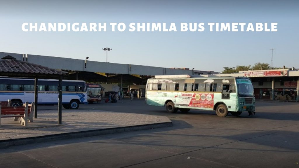 CHANDIGARH TO SHIMLA BUS TIMETABLE