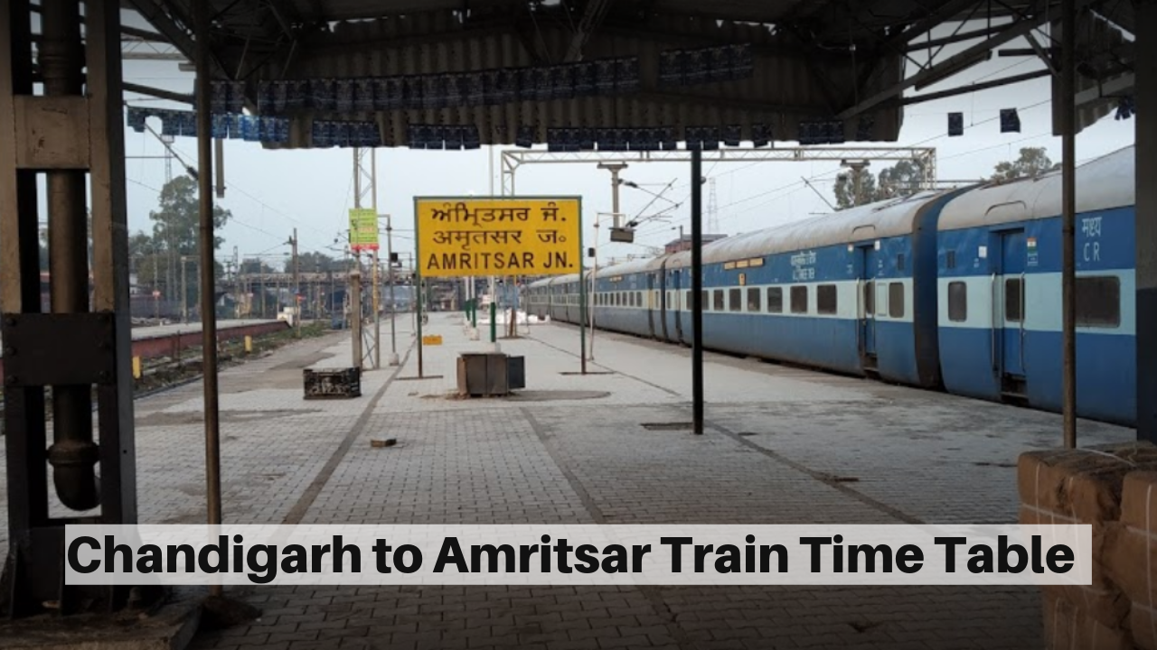 Chandigarh to Amritsar Train Time Table