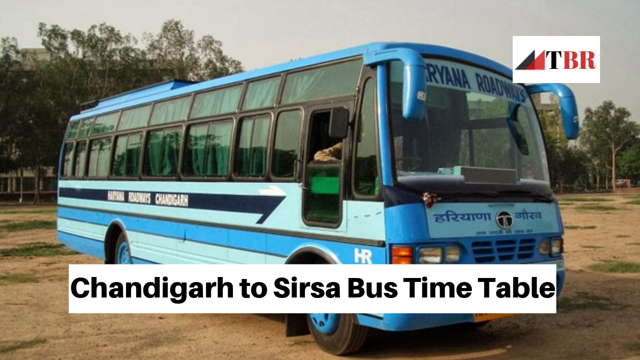 Chandigarh to Sirsa Bus Time Table