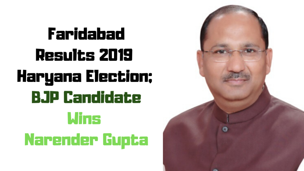 Narender Gupta Wins (BJP)