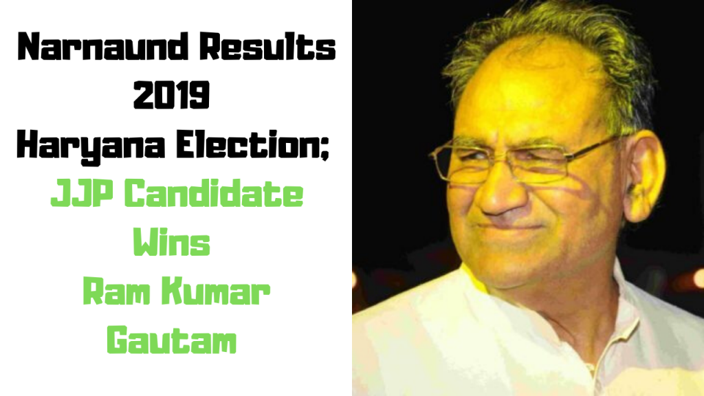 Narnaund Results 2019 Haryana Election; JJP Candidate Wins Ram Kumar Gautam