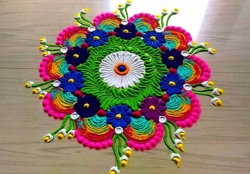 latest rangoli designs 2019 for diwali