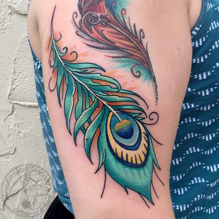 peacock feather Mor Pankhtattoo