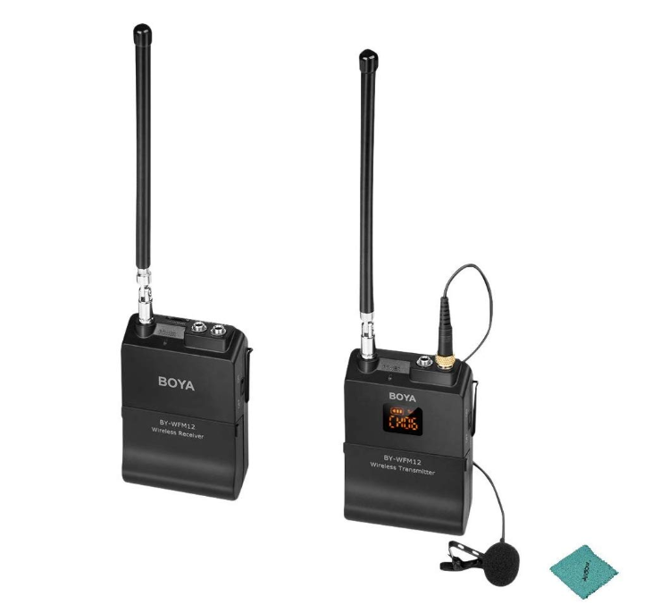 Boya by Wfm12 VHF Wireless Microphone System with Omni Directional Lavalier Microphone 12