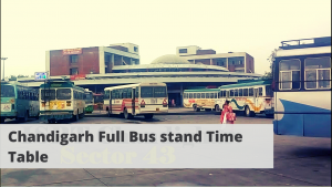 Chandigarh Full Bus stand Time Table