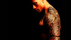 the rock shoulder tattoo